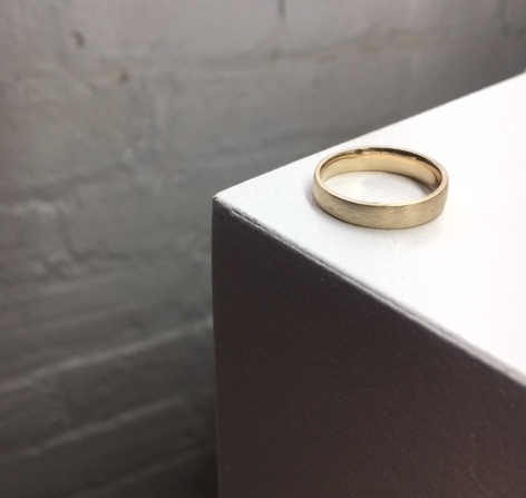 LONE Band - customized in 14k yellow gold with matte finish