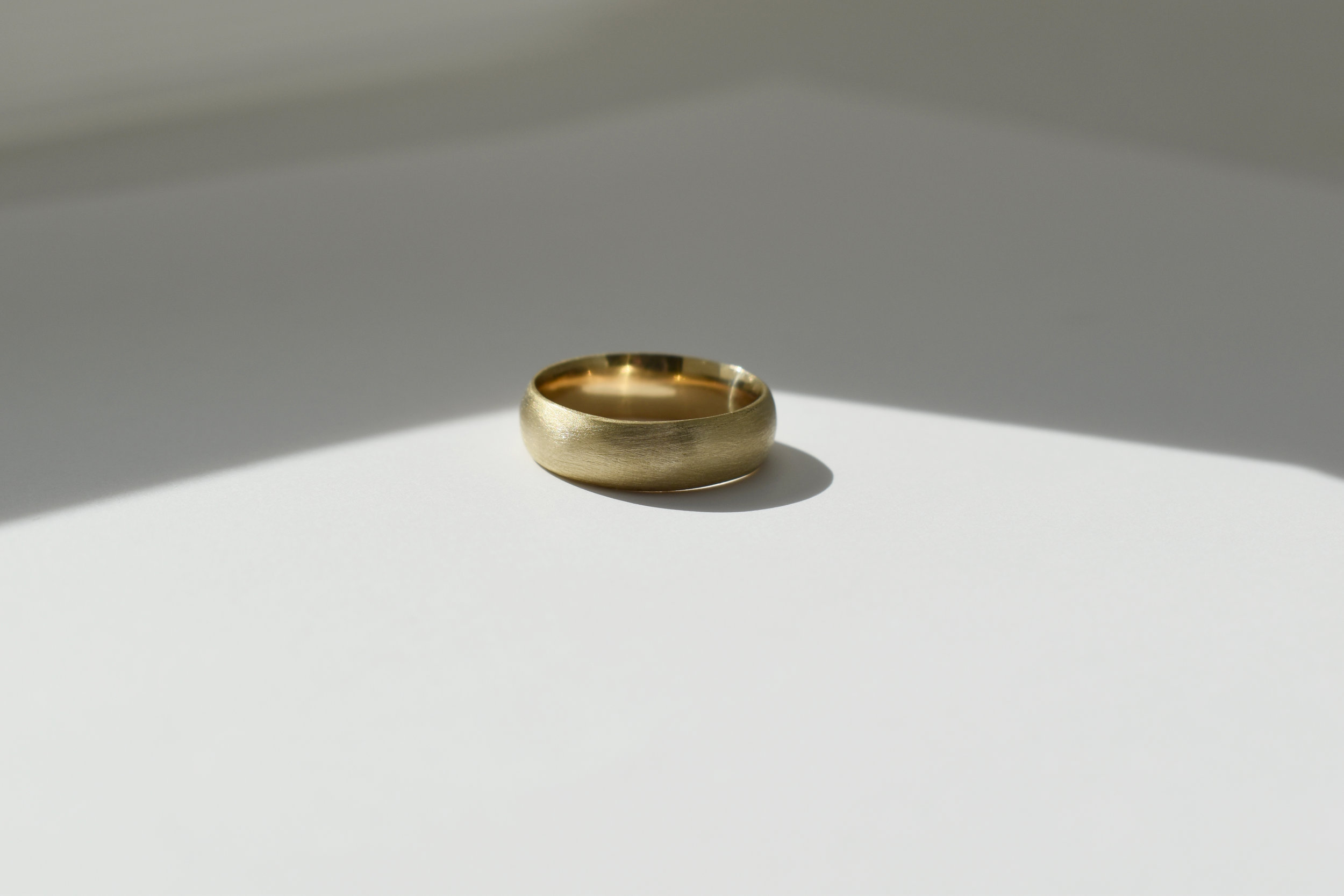 BEN Ring - 14k Yellow Gold - Driftwood Texture