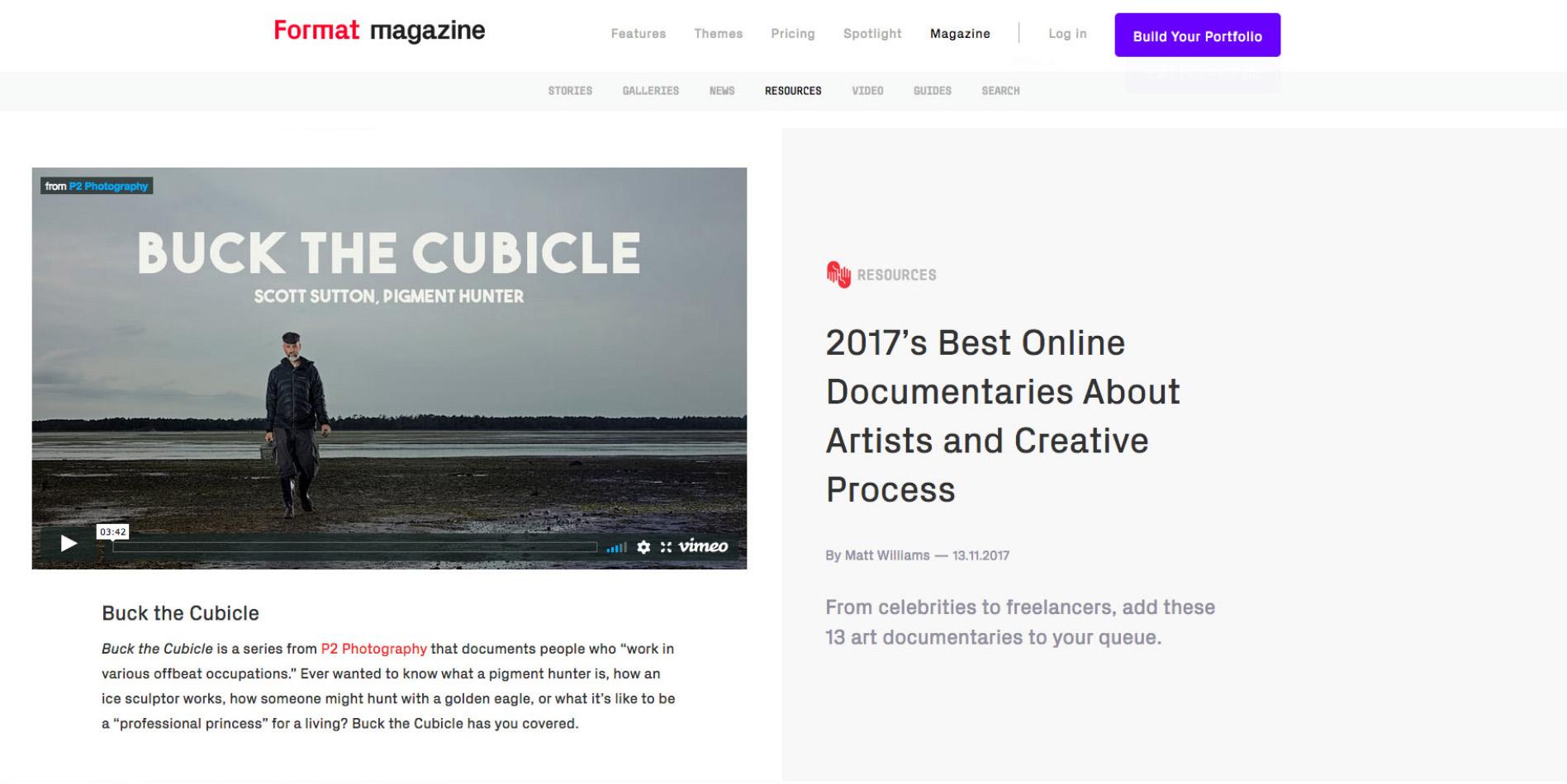 Format Magazine 2017 Best Online Documentaries