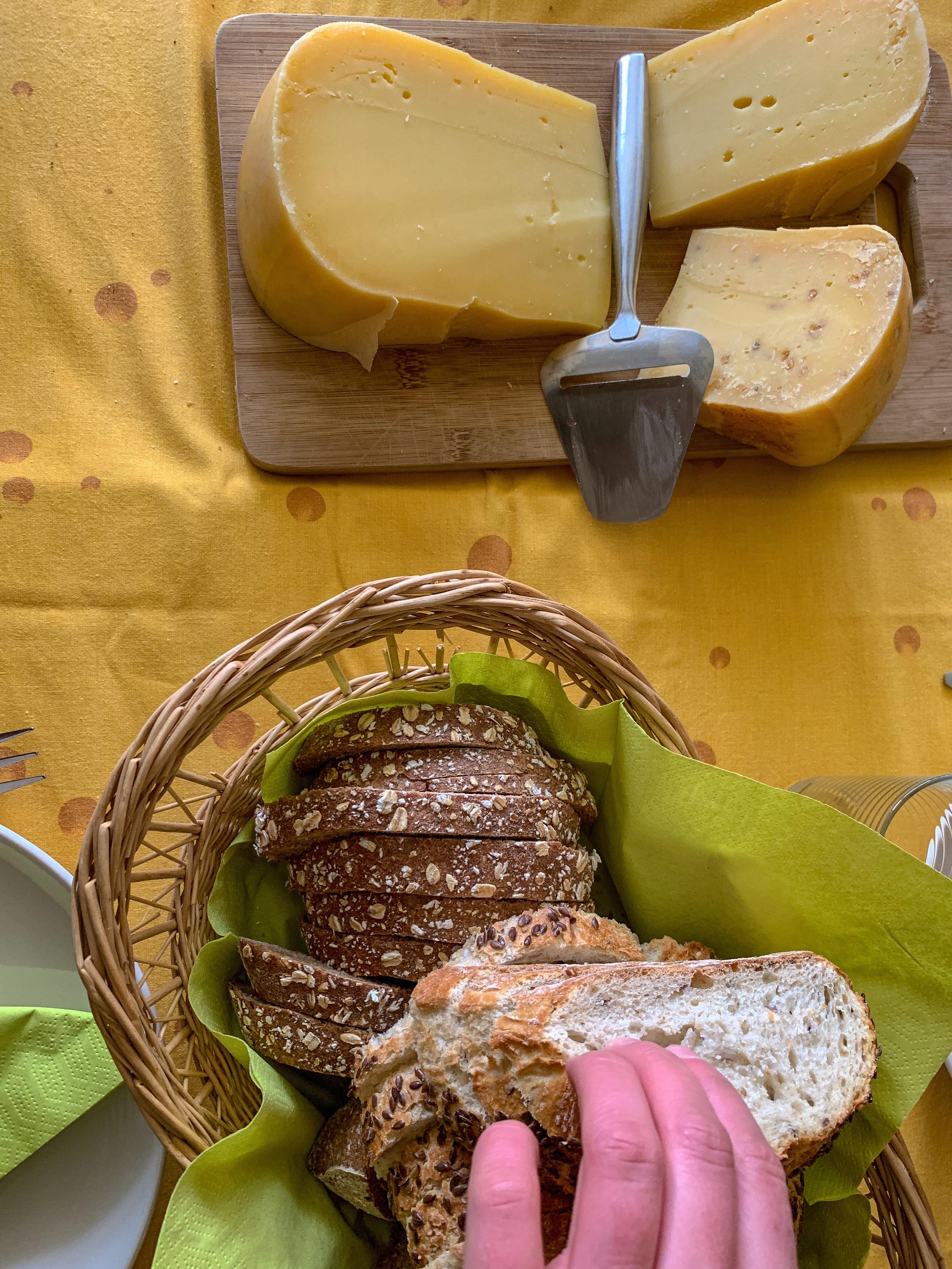 A simple Dutch cheese plate.