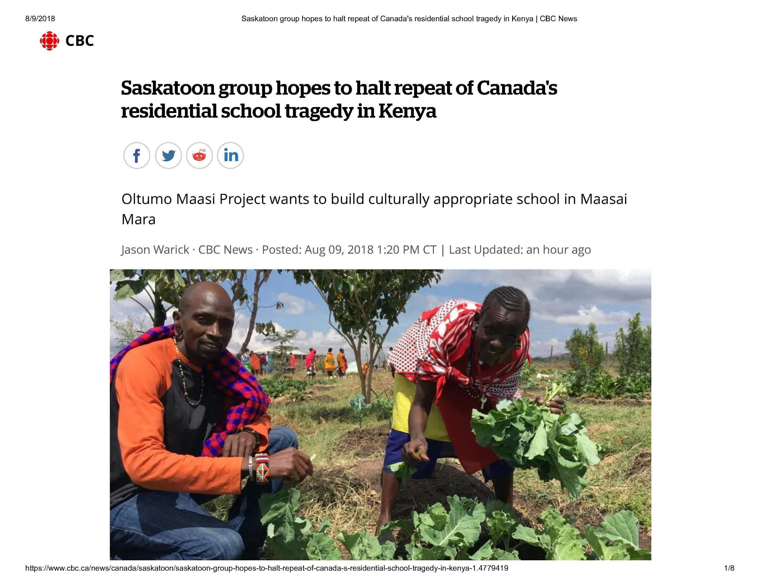 Read the entire CBC article featuring  Salaash and Gary here .