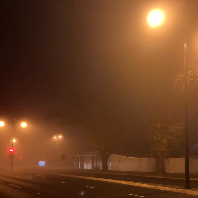 Foggy down Mytrle Street #bendigo, can barley see the #breearchitects office... . . #bendigoarchitects #bendigobusiness #lovewinter #bendigosmallbusiness