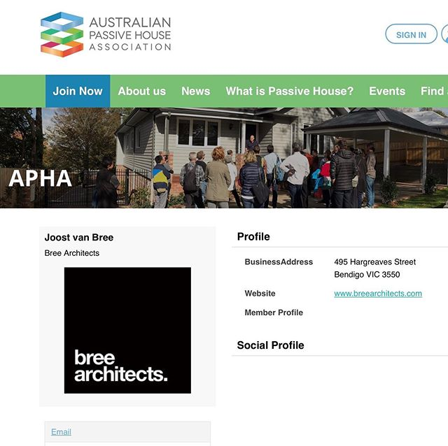 Proud new members of the Australian Passive House Association.  Get in touch for a chat on what Passive House can mean for you and your project. Learn more at https://passivehouseaustralia.org . . .  #breearchitects #joostvanbree #ceritifiedpassivehousedesigner #passivehouse #passivehousedesign #passivehousedesigner #passivhaus  #bendigoarchitects #bendigoarchitecture #bendigosmallbusiness #bendigobigideas