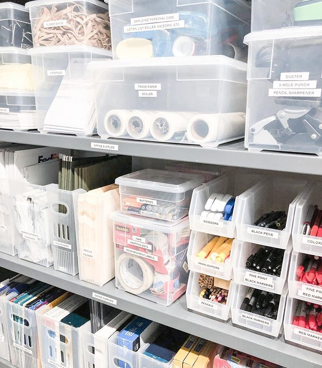 We've been busy the last few months working on an entire office organization overhaul!  A few of the benefits of organized office supplies:  1. Employees save time. No more digging or searching. 2. The company saves money. No more over-purchasing due to not knowing where things are or how much is in stock. 3. It's easy to see inventory so that before stock runs out, you can reorder ahead of time. Preventing running out of important supplies.  4. It looks pretty 😁