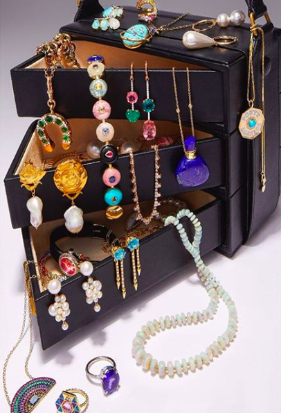 Gabriela Hearst's Mitchell bag becomes even more covetable when filled to the brim with festive baubles.