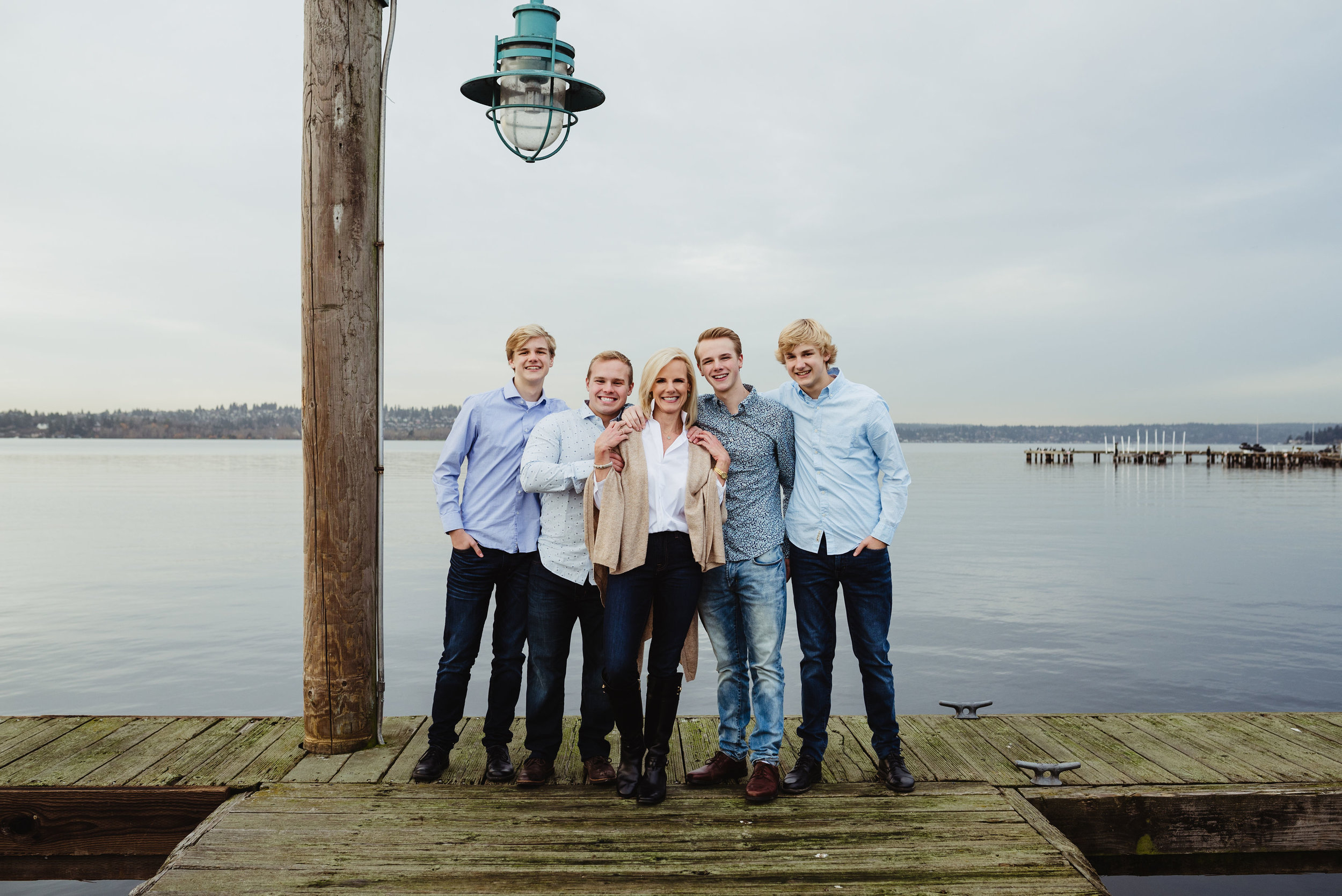From left to right, Gage, James, Dana, Trent, Michael.