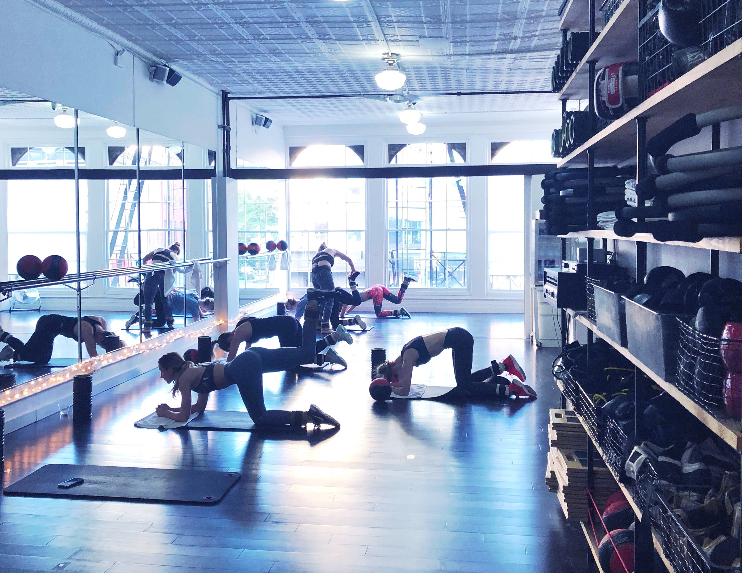The studio at modeFIT during the modeFIT sculpt class.