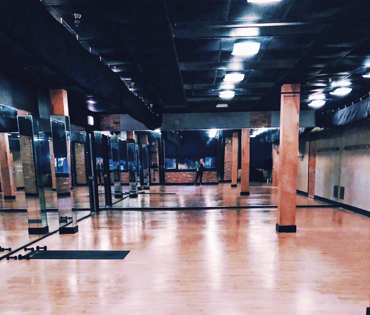 Corepower yoga studio in Chicago.
