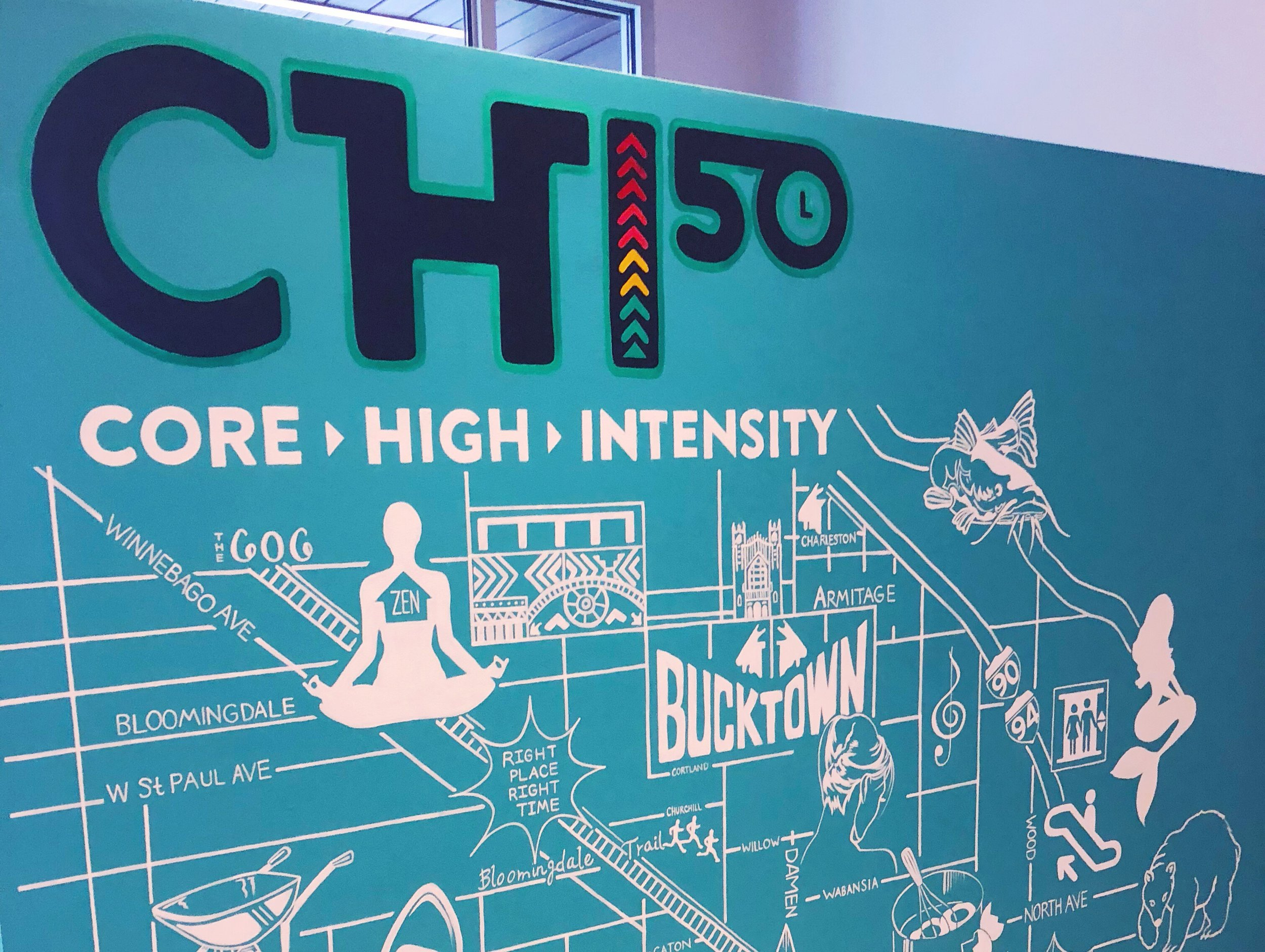 CHI50 studio wall in Chicago.
