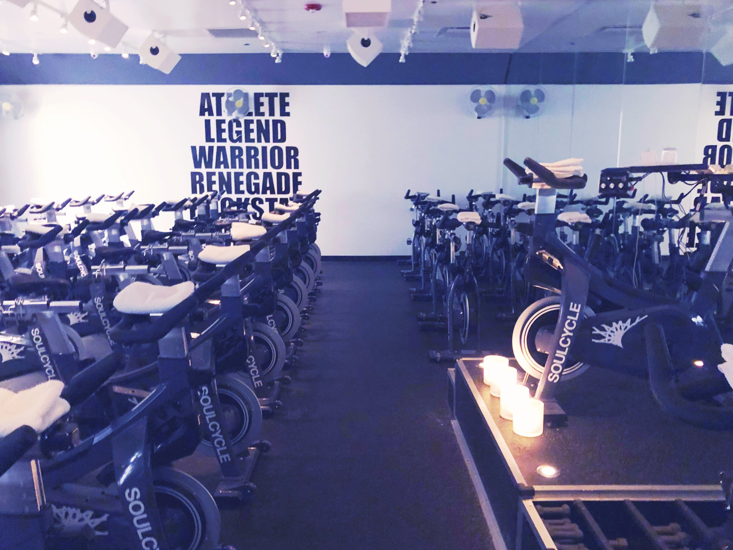 Soulcycle spin studio in Chicago.