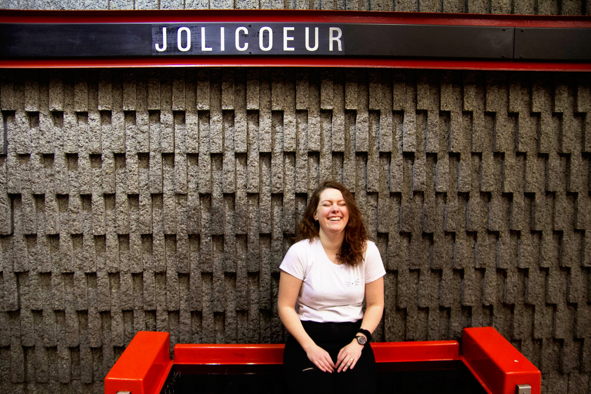 Lola+laughing+in+the+metro