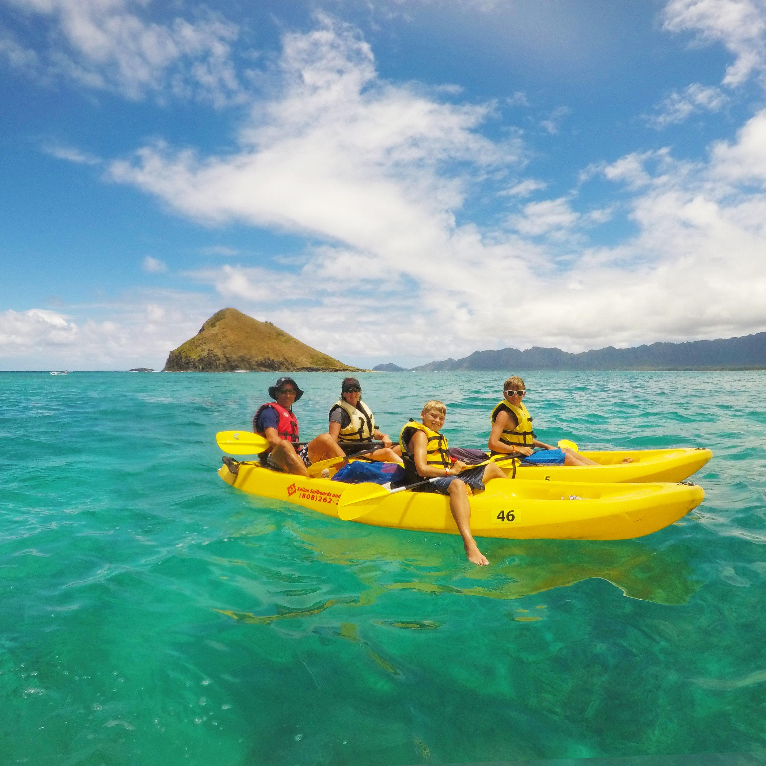 - double kayaks