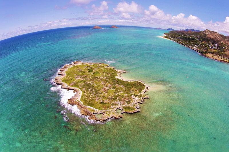 Popoiʻa Island Aerial