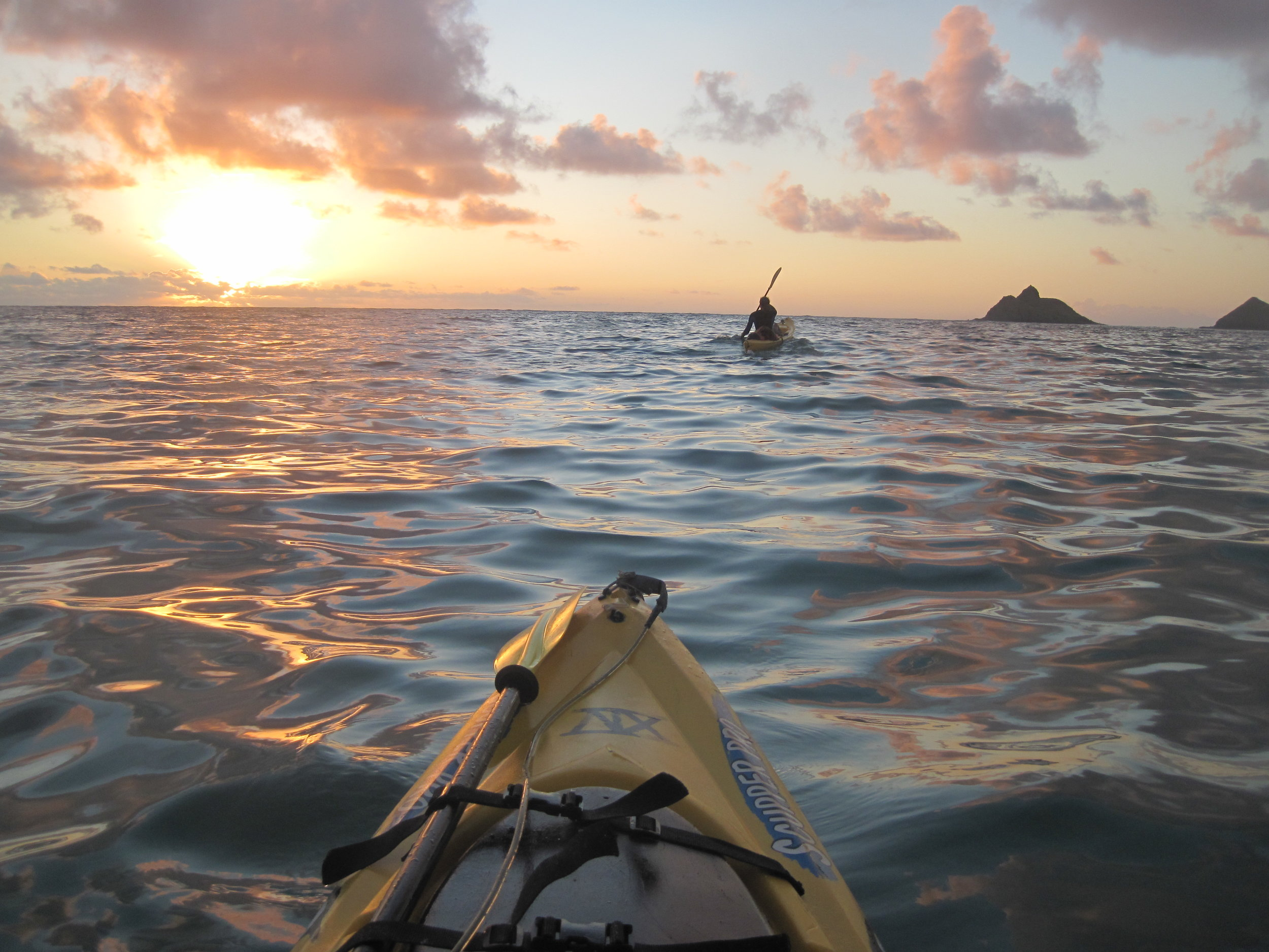 Sunrise by The Mokulua Islands