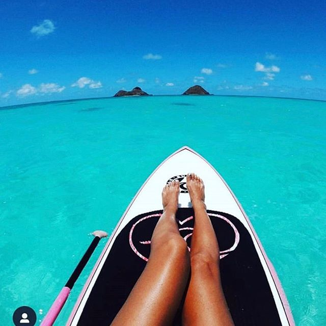 🏖 Hawaii State of Mind . . . @cocomermaid808  #kailua #lanikai #sup #kailuabae #mokuluas #mokes #hawaii