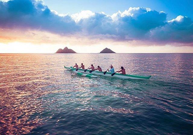 🏖 Ho'omaika'i 'ana to Lanikai Canoe Club. State champs! @aerialjphotography  #lanikaibeach #lanikai #kaōhao #outriggercanoe #mokulua #mokuluaislands #namokulua