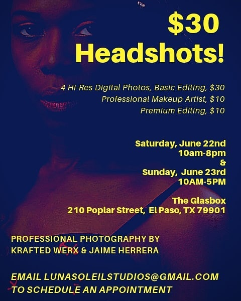 #Actors, #Actresses, #Cosplayers, #Families, #Babies, #Musicians, #Models!!! We're hosting a special event! $30 Professional Photographs/Headshots for only $30!! This is a steal!! Book an appointment today!! . . . #elpaso #event #headshot #itsallgoodep #epfilm #elpasotalent #elpasofilmmakers #juarez #lascruces #texas #newmexico #bordertown #southwest #fundraiser #photography #familyphoto #professionalphotographer #portraits #915 #elpasomua #elpasomodel