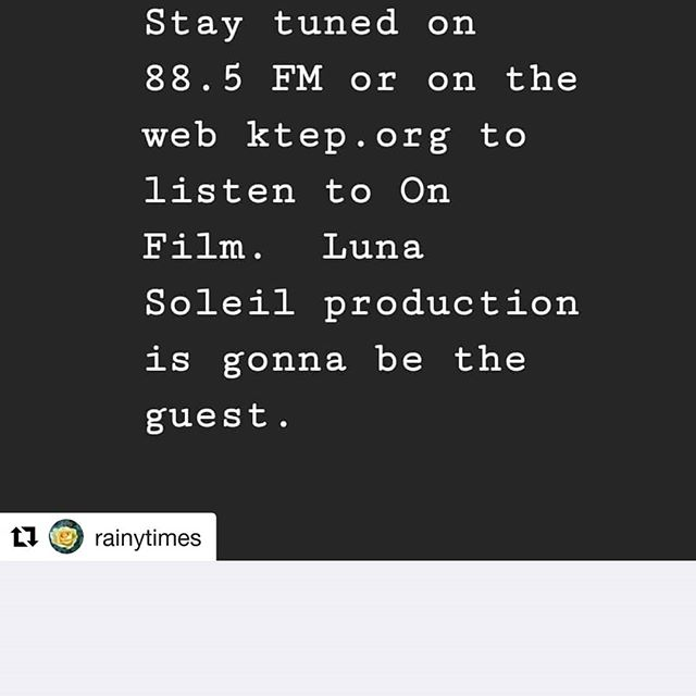 Check out the interview from our producer & managing partner @lesliedlanier today on UTEPs KTEP  On Film!  #Repost @rainytimes (@get_repost) ・・・ Right now we are airing On Film starring @lunasoleilstudios . So proud of you guys! . . . #interview #utep #ktep #supportindiefilm #filmmakersofinstagram #filmmaker #filmisnotdead #filmmaker #entertainmentnews #entertainmentindustry #elpaso #lunasoleilstudios #epfilm #filmcommission #texasfilm #hollywood #la #southwestfilm #film #filmnews #ceo #partner #girlsonfilm