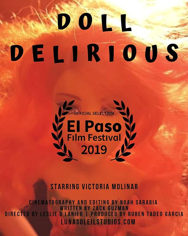 We've got great news!  Our film, Doll Delirious,  is an Official Selection in the El Paso Film Festival!  We will post screening times once the schedule is finalized. The event happens in October. Like the following links below to stay tuned.  https://twitter.com/elpasofilmfest  https://www.instagram.com/elpasofilmfestival https://www.elpasofilmfestival.org/ . . . #ElPasoFilmFestival #OfficialSelection #elpaso #filmmaker #cinematographer #director #screenwriter #shortfilm #independentfilm #producer #winning #itsallgoodep #epfilm #productionassistant #indiefilm #castingdirector #makingamovie #filmfestival #elpasotalent #elpasofilmmakers  #officialselection #juarez #lascruces #womeninfilm #femalefilmmakerfriday