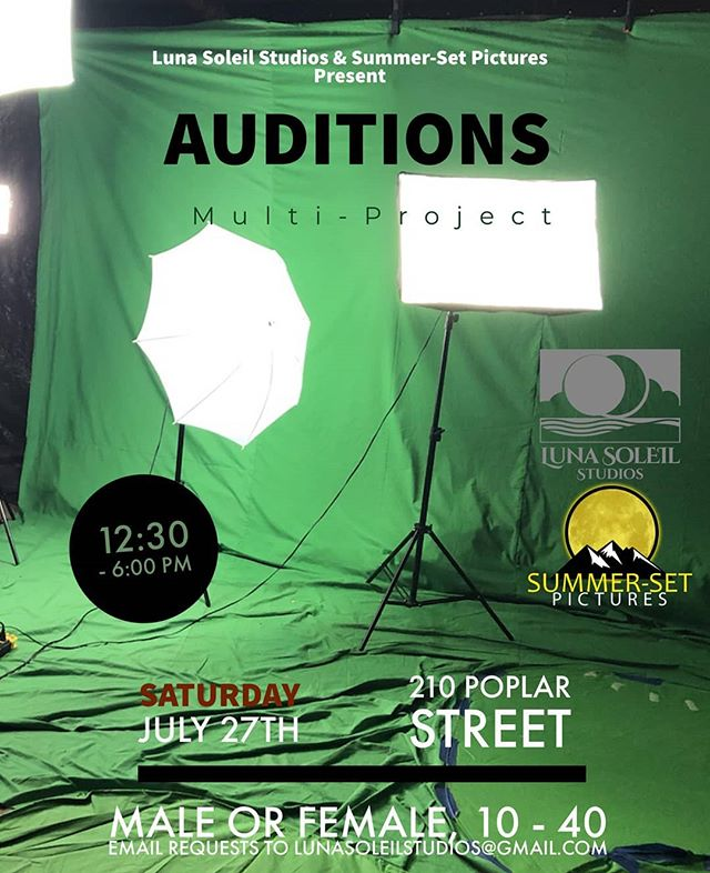 Multi-project Casting Call for local actresses and actors!! Join us and @summersetpics this Saturday from 12.30pm-6pm at the Glasbox for auditions!  Can't make it?  Send your headshot and resume via email and request a video audition! . . . #elpaso #filmmaker #santafe #director #albuquerque #shortfilm #independentfilm #producer #castingcall #actor #actress  #itsallgoodep #epfilm #915 #indiefilm #castingdirector #casting #makingamovie #followme  #elpasotalent #elpasoactors #juarez #lascruces #audition #newmexico #bordertown #castingcall