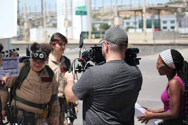 We're back at work!  We're working our butts off on this @ghostbusters #fanfilm!  So proud of our team!  #ComingSoon from Luna Soleil Studios & @summersetpics!! #Ghostbusters #GhostCorp #weaintafraidofnoghosts👻 . . . . . . . #supportindiefilm #CGI #filmmaker #vfx #sfx #slimer #shortfilm #setlife #greenscreen #sonya7ii #filmcrew #family #bonding #collaboration #indiefilm #filmmakersofinstagram #goodslate #producer #elpaso #director #cinematographer #sonyfs5 #filmlife #filmisnotdead #blackmagic4k