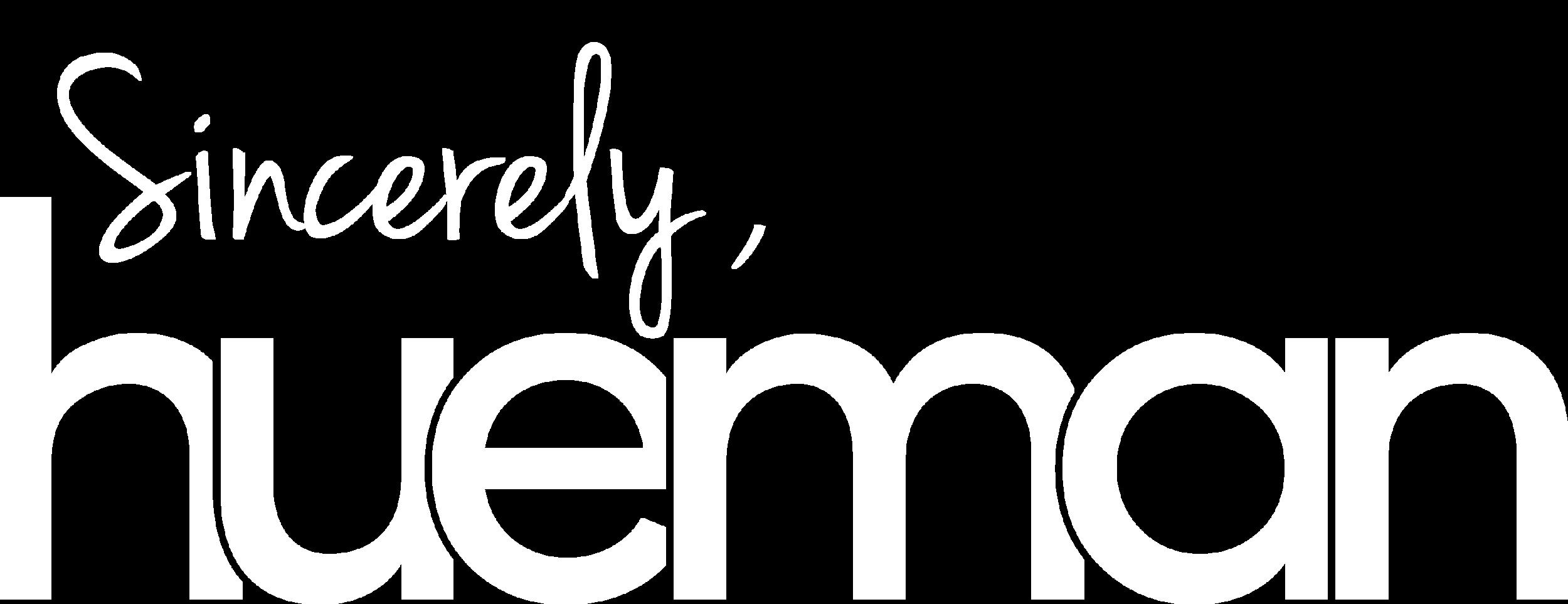 Sincerely Hueman - Logo (W).png
