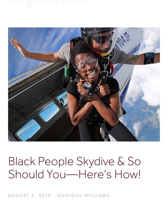 "@Regrann from @melaninbasecamp - ""Skydiving has officially joined the list of things that black people do!—alongside hiking, international travel and performing live with Billy Ray Cyrus at the Black Entertainment Television (B.E.T.) Awards. It's a new era!"" —@skynoire  Don't let summer end without planning your first tandem skydive! Have questions? We've got answers. Check out our latest article at melaninbasecamp.com . . . Visit www.melaninbasecamp.com/trip-reports/2019/8/11/black-people-do-skydive or check out the link in our bio and let us know what you think. . . #TeamBlackstar #DiversifyOutdoors"