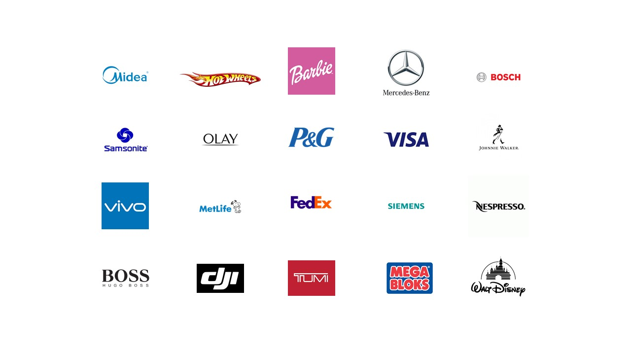 I've worked with brands such as Midea, Hot Wheels, Barbie, Mercedes-Benz, Visa, FedEx, Hugo Boss, Disney and many more.