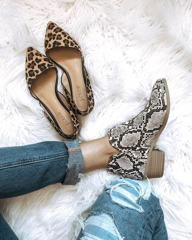 It may be the first of August, but I'm just thinking about Fall and all of the prints I'm going to wear!  Are you team snake skin or leopard? 🐆🖤 http://liketk.it/2DRk9 @liketoknow.it #liketkit #LTKshoecrush #LTKunder100