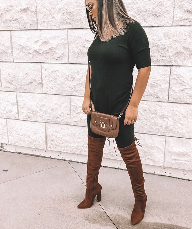 I'm so excited to announce that I've partnered with @justfabonline to bring you the cutest Fall and Winter boots! I'll be wearing these OTK boots all season long! Fit TTS 🍁🍂 #justfabpartner JustFab.com/bootseason