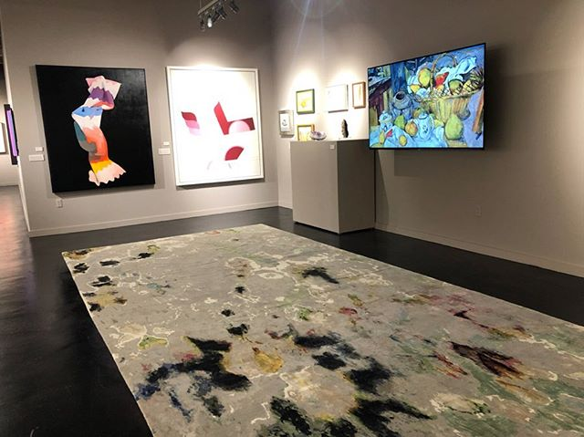 What better way to fill an art gallery than with 'water colours' by @knotsrugs ?  Answer: none  #DavidAlanRugs #interiordesign #austininteriordesign #interiordesigner #interiors #homedecor #contemporary #wool #silk #austininterior #sanantoniointeriordesign #sanantoniointeriors #houstonininteriordesign #houstoninteriors #architecture #decor #interiordecorating #interiorinspiration #houstoninteriordecorator #inspiration #tulsainteriordesign #dallasinteriordesign #dallasinteriors #dallasinteriordesigner #art #gallery
