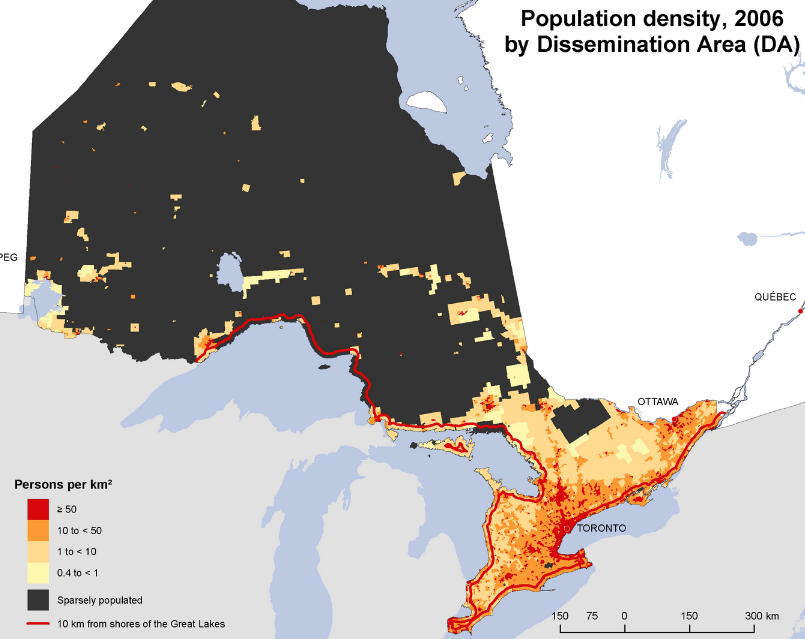 Map courtesy of Statistics Canada.
