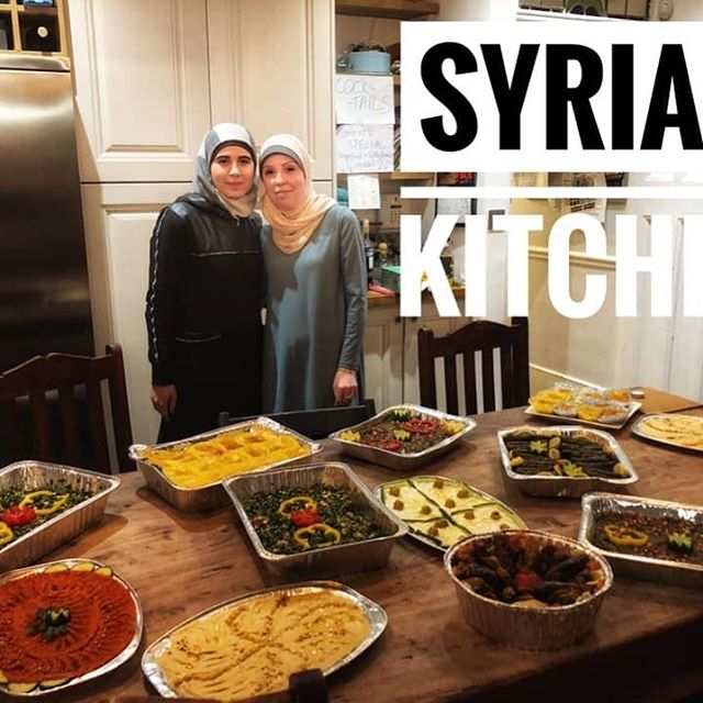 Catering an amazing 40th birthday #middleeasternfood #refugeewomen #supperclub #syria #syrianfood