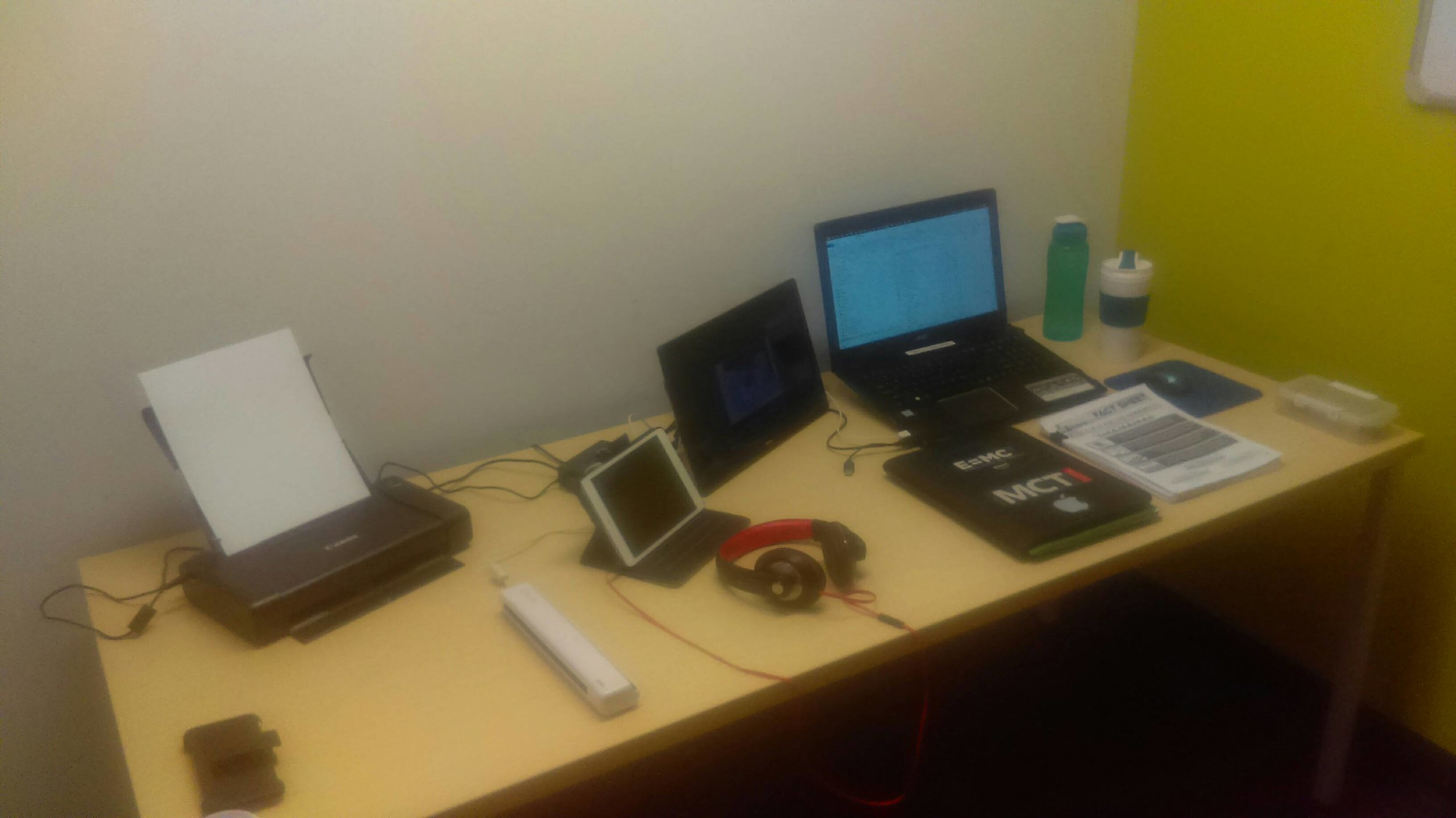"""My """"mobile office"""" configuration…"""