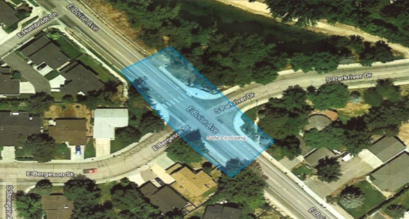 Safe Crossing Boise Ave - Click Image To Make a Comment(Map This Instead)