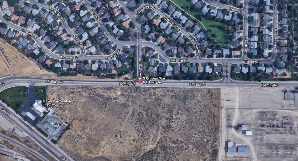 Intersection Amity & Rimview Way - Click Image To Make a Comment(map this instead)