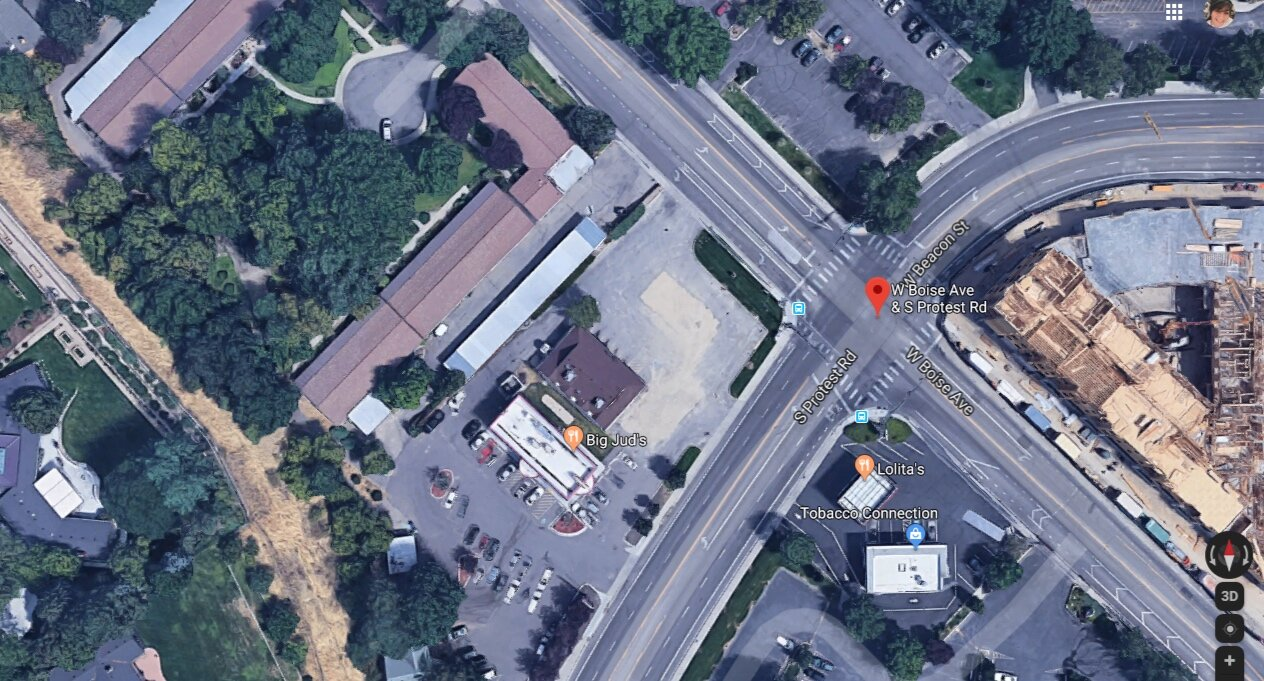 Intersection Protest Hill & Boise Ave - Click Image To Make a Comment(map this instead)