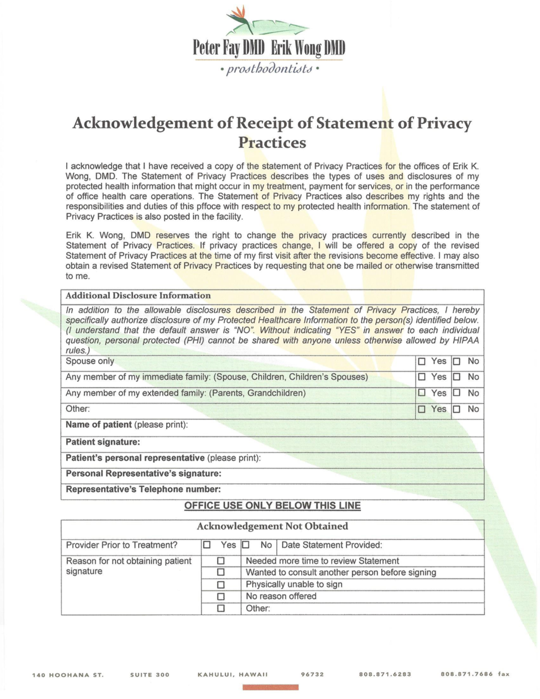 Privacy Statement -