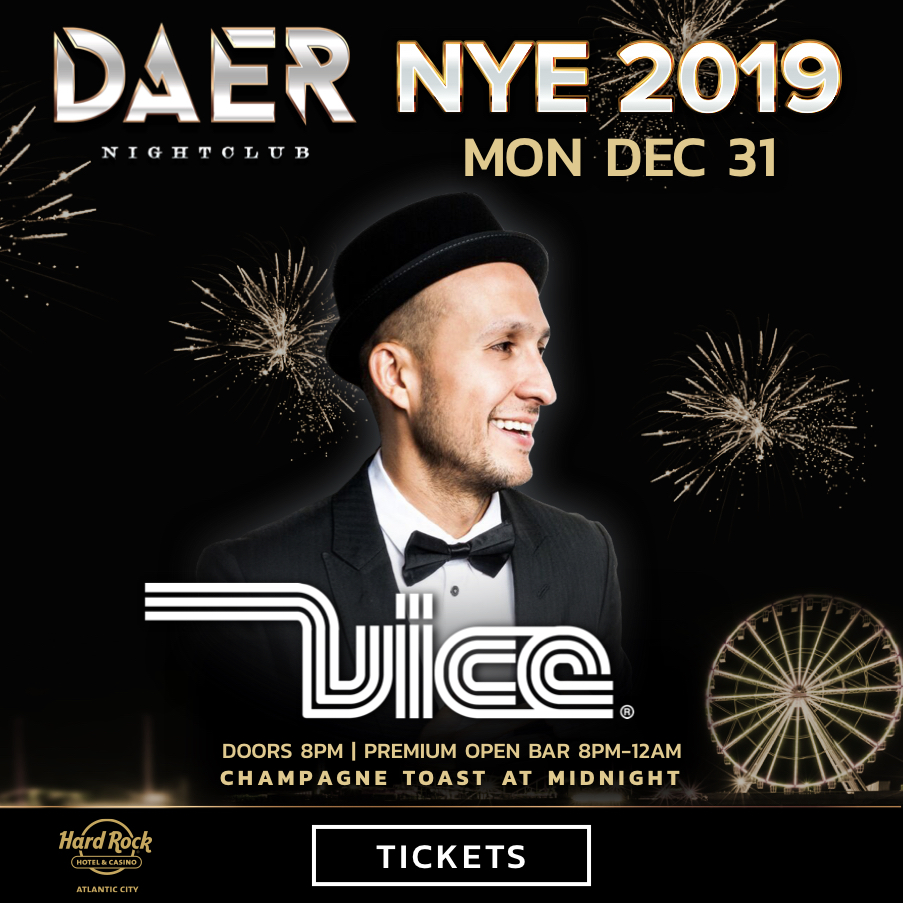 NYE 2019 - Doors: 8PMPremium Open Bar from 8pm – 12am tickets starting at $100.Outside Terrace (10 – 12 people)Loft Table (6 – 8 people)Banquette (12 – 15 people)Backstage Table (6 – 8 people)Dance Floor Table (10 – 12 people)DJ Booth (Up to 15 people)