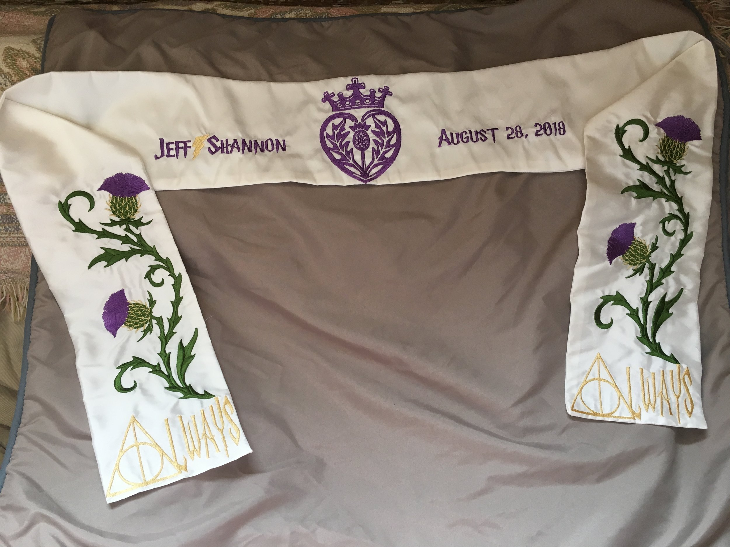 Harry Potter inspirted custom handfasting cloth