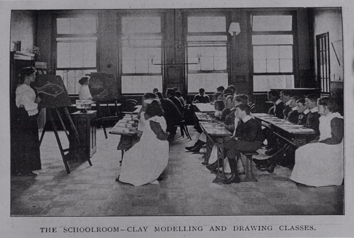 'The Schoolroom' at Middlefield Hospital in the 1910s.