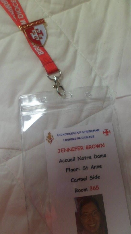 My hospital badge.