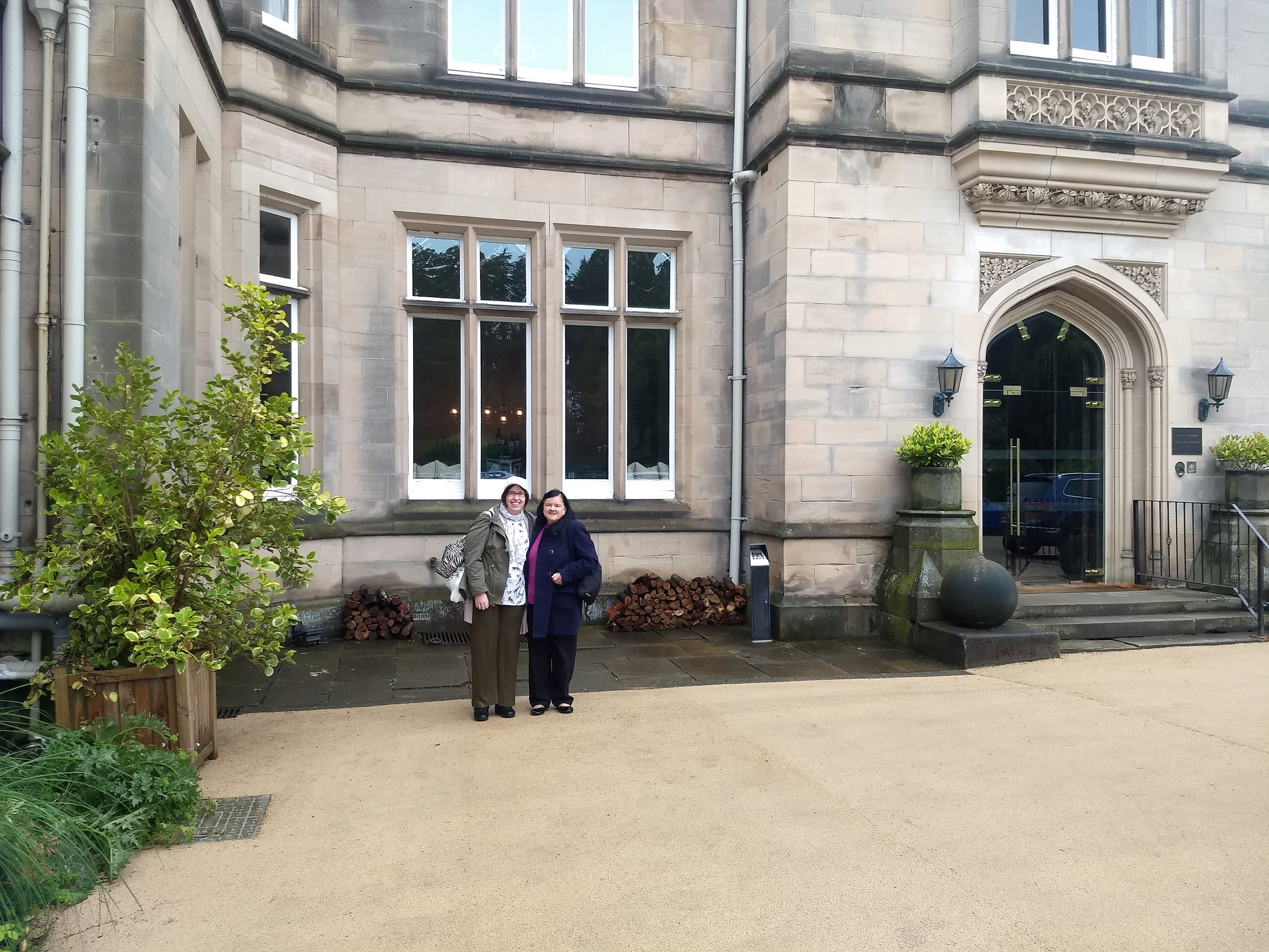 Me and Kathy outside Hampton Manor