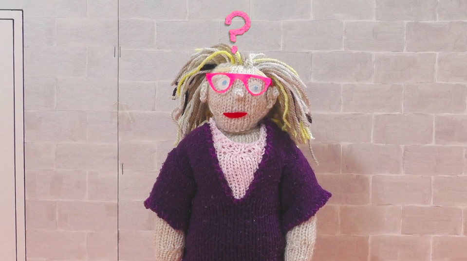 Beth Richards has produced a fantastic animation about the difficulties people with learning disabilities face getting to and doing interviews. In this case, it is an audition for an acting part. Click on the photo to watch and listen to the video. [Photo: a knitted version of Beth confused by the needlessly difficult language being used. Photo from  https://www.hamilton-house.org/feature/2019/3/22/theaudition ]
