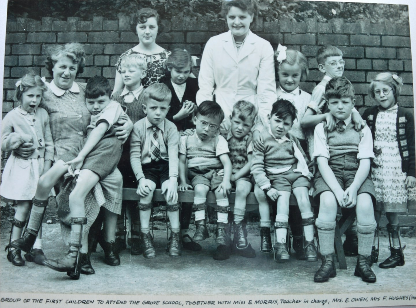 The first group of children to attend what became Longfields, from the project's Facebook page ( https://www.facebook.com/Longfields1952/ )