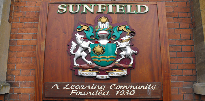 The crest of Sunfield (from  their website )