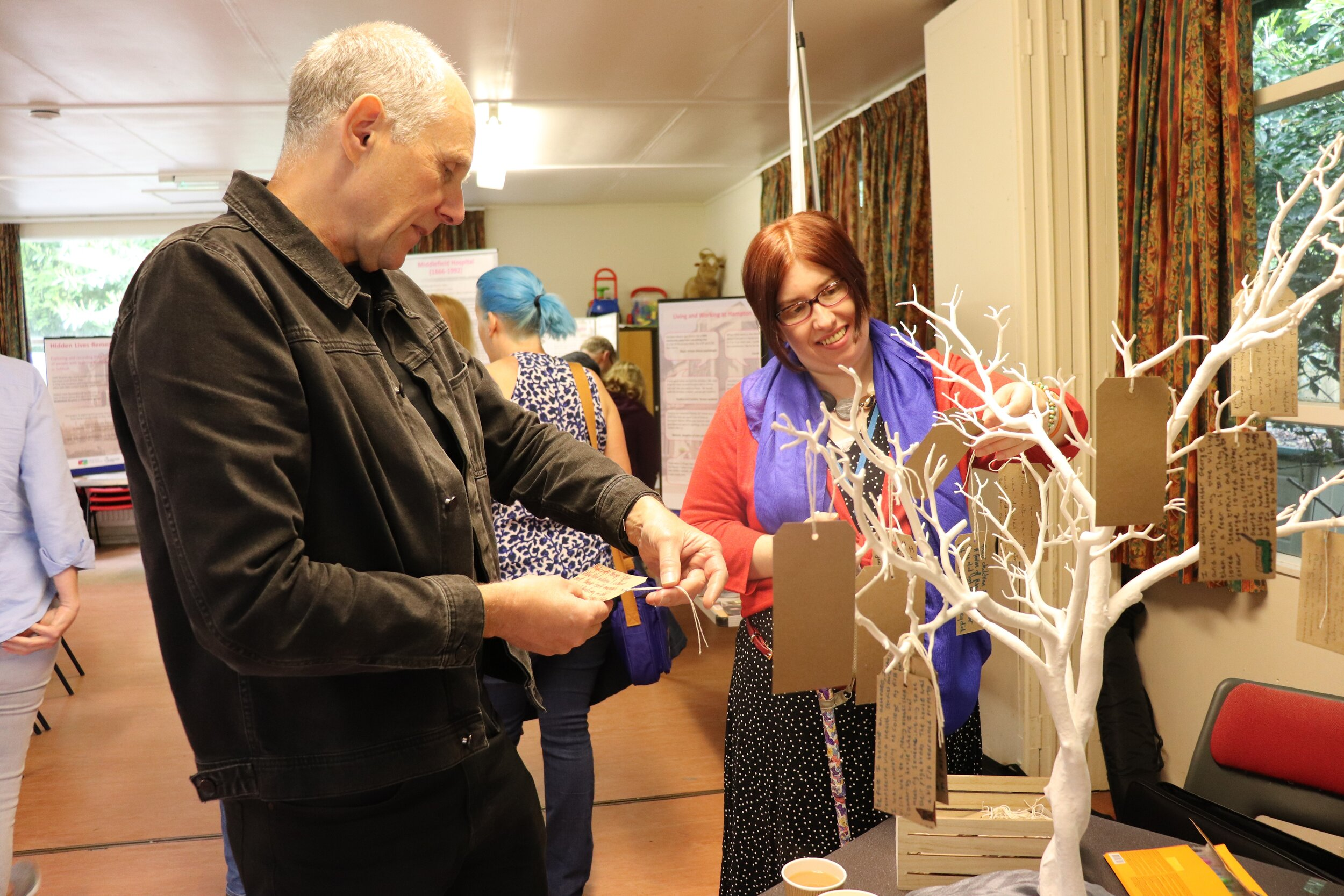 The Memory Tree at the mid-project Exhibition