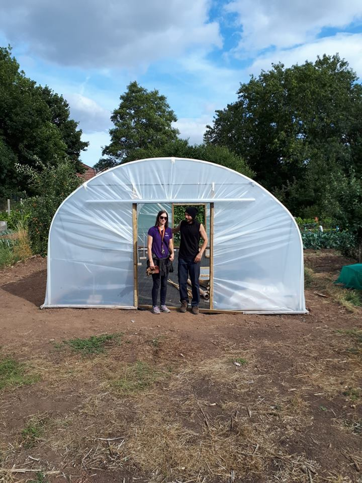 Our new polytunnel