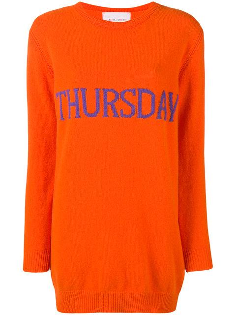 ALBERTA FERRETTI<br>Thursday sweater dress
