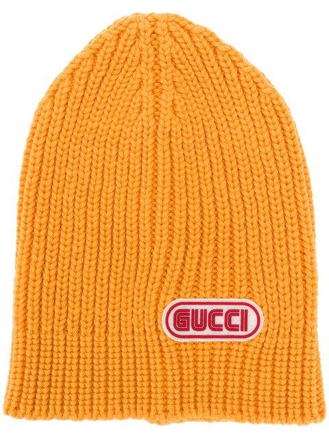 GUCCI<br>Gucci logo patch beanie